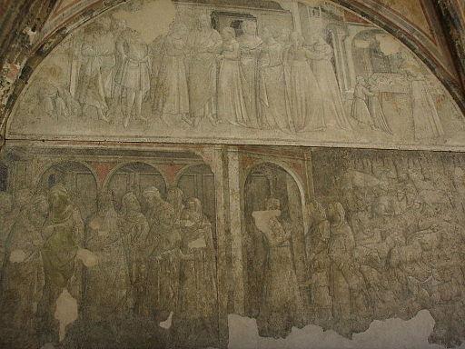 Museo di santa maria novella, chiostro verde affreschi di paolo uccello9