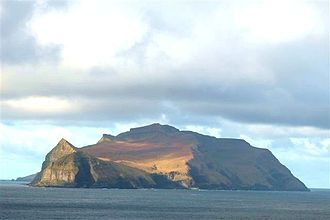 Mykines, Faroe Islands - Mykines seen from the east (Sørvágur) in October