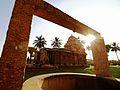 N-TN-C94 View at Kailasa Shrine through the well around Brihadiswara Temple.jpg
