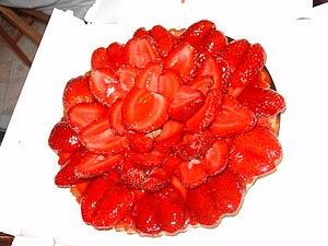 A strawberry pie.
