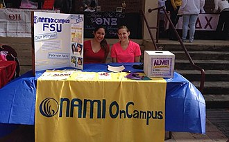 National Alliance on Mental Illness - Students promoting a university affiliated NAMI On Campus organization