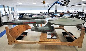 National Air and Space Museum - Paramount's filming model of the ''Star Trek'' starship Enterprise under restoration for NASM exhibition