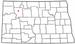 Location of Stanley, North Dakota