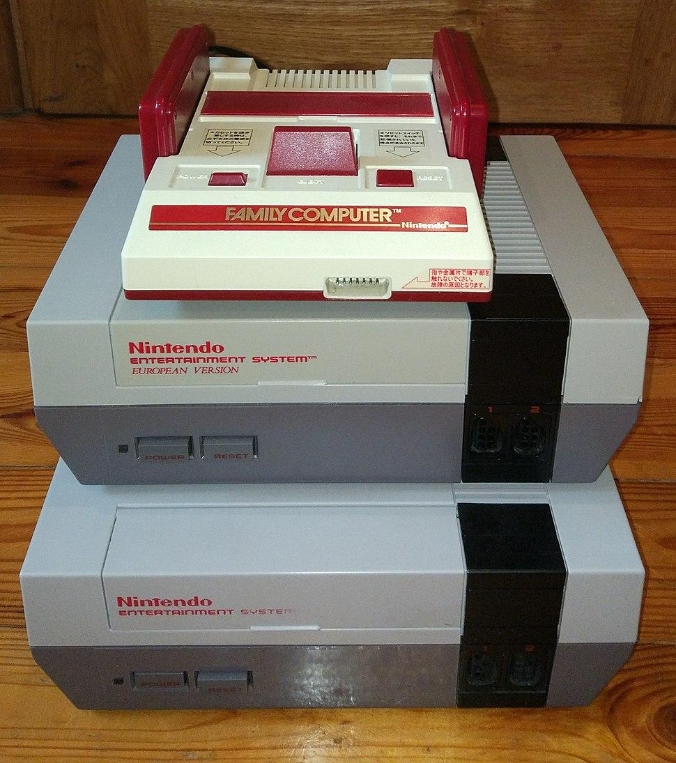 NES Famicom PAL NTSC European American Japanese