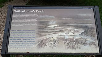 Battle of Trent's Reach - National Park Service marker at Fort Brady for the Battle of Trent's Reach