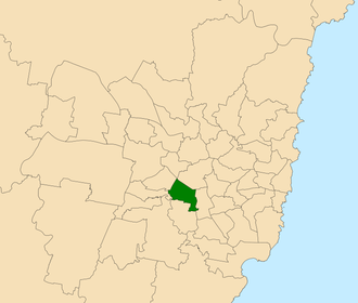 Electoral district of Bankstown - Location within Sydney