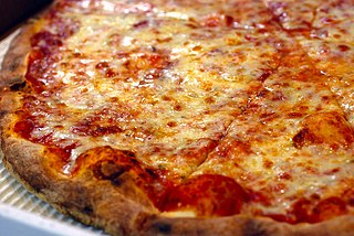 New York-style pizza Large hand-tossed thin crust pizza