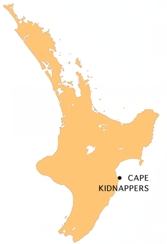 Cape Kidnappers - Location map