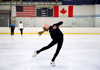 Clearwater, Florida - A figure skater pictured at the Clearwater Ice Arena