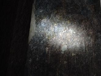 Ajanta Caves - Name and date inscribed by John Smith after he found Cave 10 in 1819.
