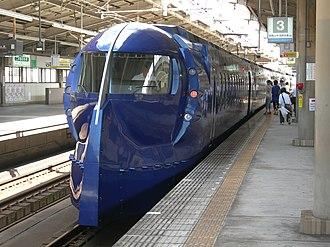 Nankai Electric Railway - Image: Nankai 50000 Rapit in Tengachaya Station 1 DSCN3291 20120831