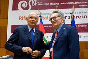 Gianfranco Pasquino - Gianfranco Pasquino with former President of the Italian Republic Giorgio Napolitano.