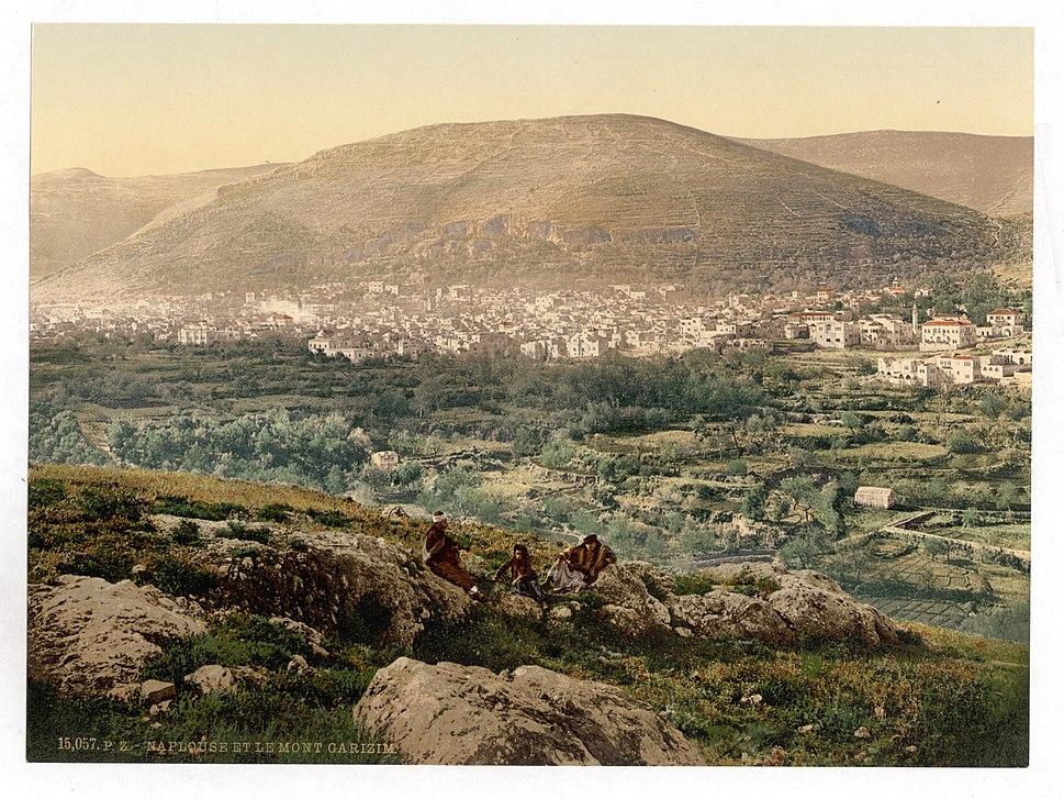 Napulus and Mount Gerizim, Napulus, Holy Land, (i.e., Nablus, West Bank)-LCCN2002725043