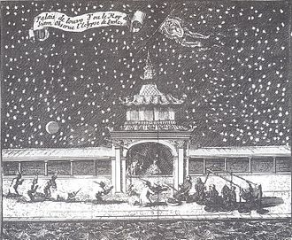 Narai - King Narai observes a lunar eclipse with French Jesuits at Lopburi, 1685