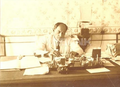 Nariman Narimanov in his cabinet of Azerbaijan Revolution Comitee.png