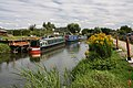 Narrowboats at Riverside Island Marina - geograph.org.uk - 1426078.jpg