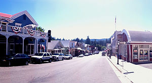 Nevada City, California - Broad Street, Downtown Nevada City