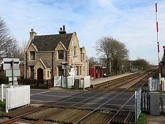 New Lane railway station - New Lane railway station in 2015.