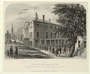 Etching of Old City Hall, 1789