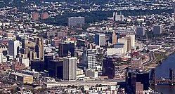 Skyline of Newark in 2012