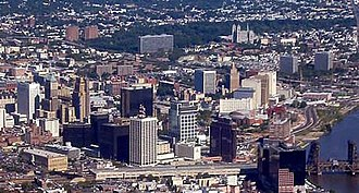 Newark, New Jersey - Skyline of Newark in 2012