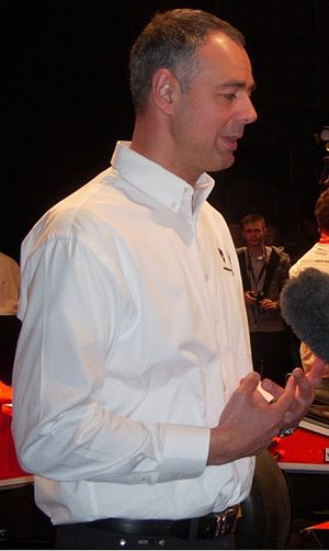 Nick Wirth - Nick Wirth at the BBC Television Studio.