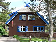 The summerhouse of Thomas Mann in Nida (German: Nidden)