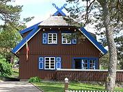 The summerhouse of Thomas Mann in Nida (German: Nidden)