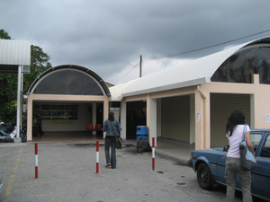 Nilai Komuter station - The expanded station building at the Nilai commuter Station