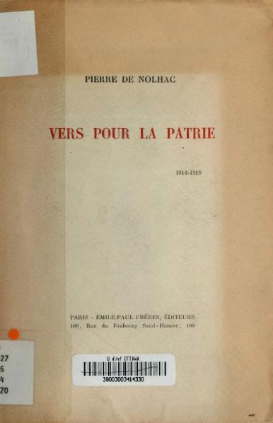 File:Nolhac - Vers pour la patrie, 1920.djvu