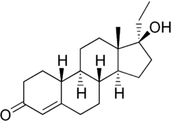 Norethandrolone structure.png