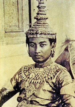 Norodom Sihanouk - Sihanouk in his coronation regalia, November 1941
