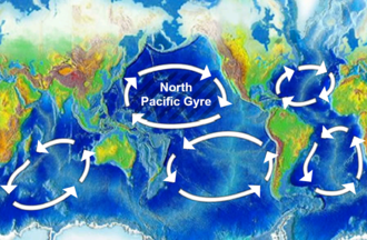 Great Pacific garbage patch - Image: North Pacific Gyre World Map