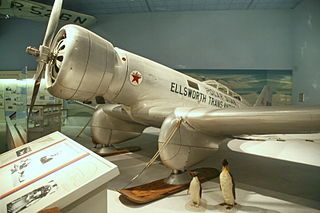 Airplane used by polar explorer Lincoln Ellsworth