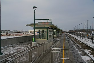 Elk River station - Image: Northstar Commuter Rail Elk River