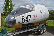 Nose of English Electric Canberra TT.18 -WH887- '847' (27854870128).jpg