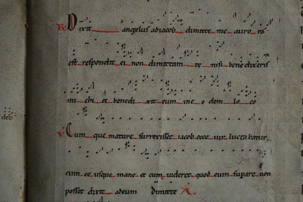 Partitura escrita amb neumes