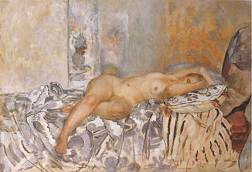 Nude on Spanish Blanket by Henri Lebasque
