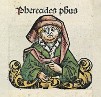Pherecydes of Syros - Pherecydes, depicted as a medieval scholar in the Nuremberg Chronicle