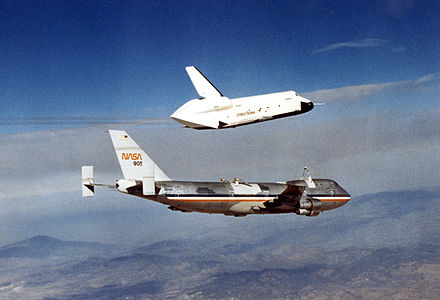 Enterprise during the Approach and Landing Tests OV-101 first flight.jpg