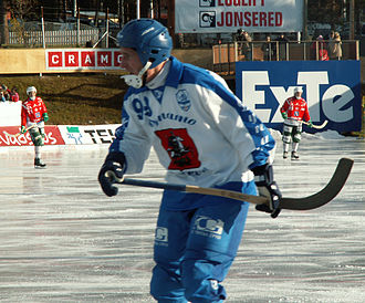 2007 in Russia - Sergey Obukhov, a player for the bandy team, Dynamo Moscow.
