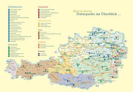 Liste Der Naturparks In Osterreich Wikipedia