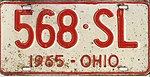 Ohio 1965 license plate - Number 568-SL.jpg