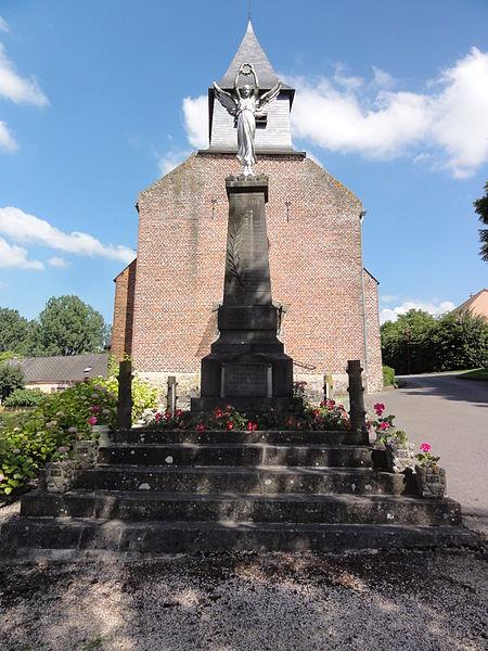 Ohis (Aisne) monument aux morts devant l'église