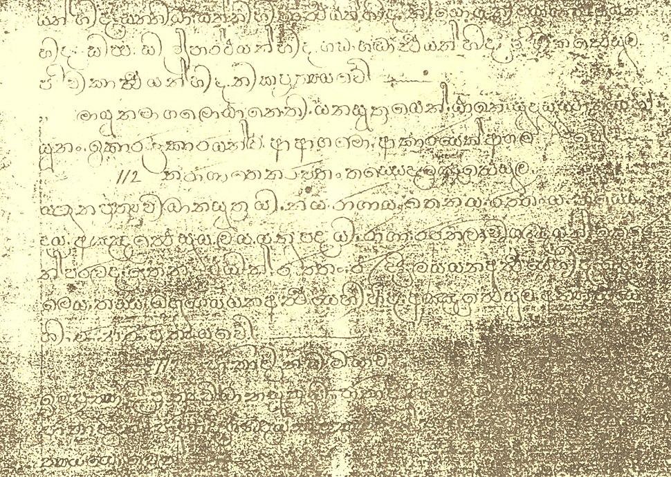 Ola Scriptures And Art Works Of Venerable Migettuwatte Gunananda Thera