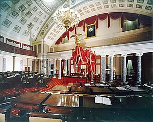 Old Senate Chamber - View of Chamber from southwest