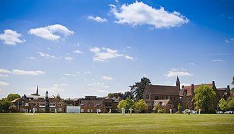 Bloxham School - Bloxham's 1st XI cricket team plays Marylebone Cricket Club in 2010.