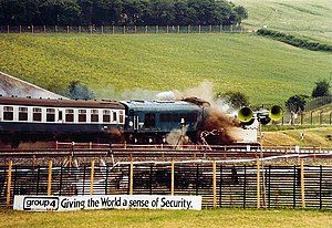 Nuclear flask - 1980s Old Dalby Test Track test against a flask in its most vulnerable position