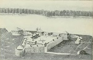 Fort Madison, Iowa - Fort Madison, built in 1808 (1903 artist's interpretation)