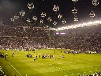 2002–03 UEFA Champions League - Image: Old Trafford (2003 UEFA Champions League Final)